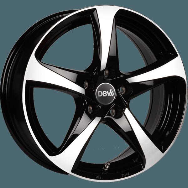 DBV 5SP 001 hliníkové disky 8x18 5x114,3 ET40 schwarz glanzend, front poliert
