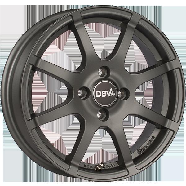 DBV Bali II hliníkové disky 5x15 4x100 ET38 antracit