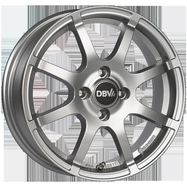 DBV Bali II hliníkové disky 5x15 4x100 ET38 strieborný