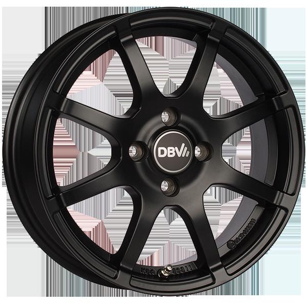 DBV Bali II hliníkové disky 5x15 4x100 ET38 čierny