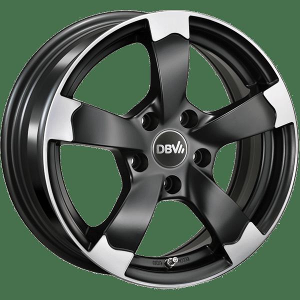DBV Torino II hliníkové disky 7,5x17 5x100 ET35 čierny leštený
